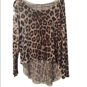 Sweaters - Leopard high low sweater never worn